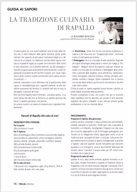La tradizione culinaria di Rapallo